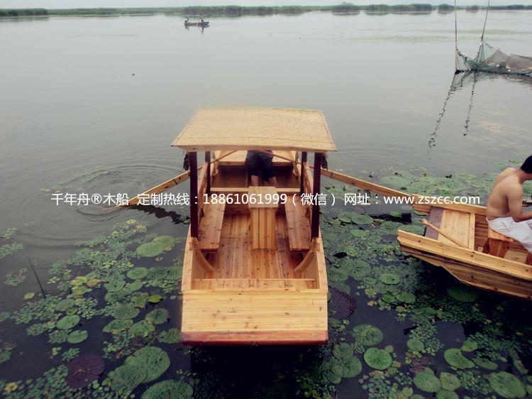 五米玻璃钢单篷旅游船_旅游木船_兴化市江南木船制造